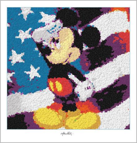 Micky Maus, Legokunstwerk, Legokunst, Kunst mit Legosteinen, Art of Brick, Lego Art, Legoart, Legokunst, Bilder aus Legosteinen