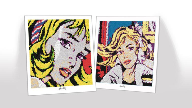 Roy Lichtenstein, Legokunstwerk, Legokunst, Kunst mit Legosteinen, Art of Brick, Lego Art, Legoart, Legokunst, Bilder aus Legosteinen