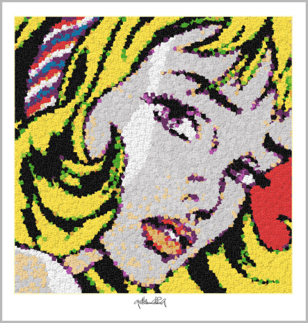 Roy Lichtenstein, Legokunstwerk, Legokunstwerk, Legokunst, Kunst mit Legosteinen, Art of Brick, Lego Art, Legoart, Legokunst, Bilder aus Legosteinen