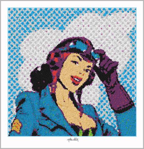 Pop Art Girl, Pop Art, Comic Art, Art of Bricks, Brickart, Kunst mit Lego Steinen, Legokunst, Lego Art, Legoart,