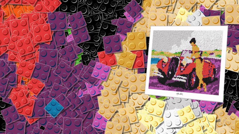 Pop Art, Comic Art, Art of Bricks, Brickart, Kunst mit Lego Steinen