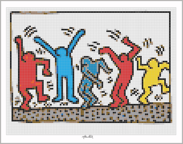 Kunst mit Legosteinen, Art of Brick, Lego Art, Legoart, Legokunst, Bilder aus Legosteinen,
