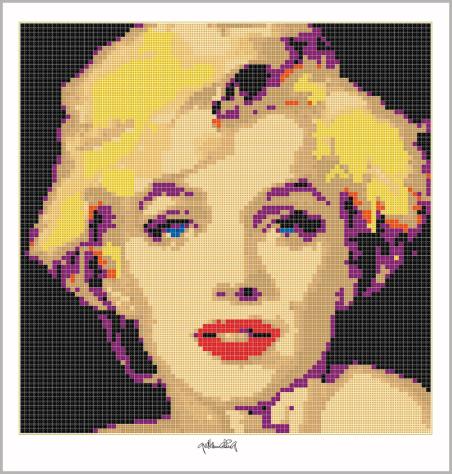 Art of Brick, Marilyn Wandbild, Lego Art, Legoart, Legokunst, Kunst mit Legosteinen