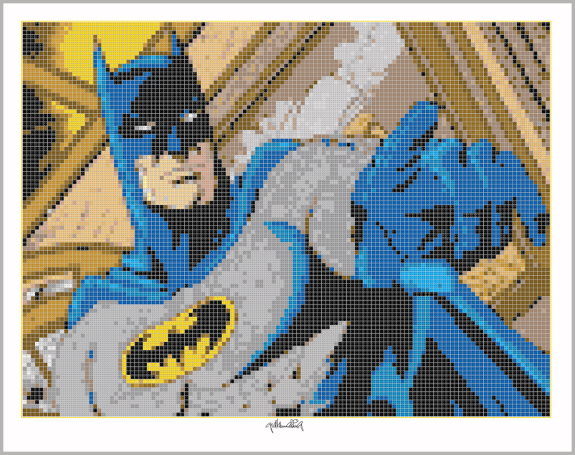 Batman, Art of Bricks, Brickart, Kunst mit Lego Steinen
