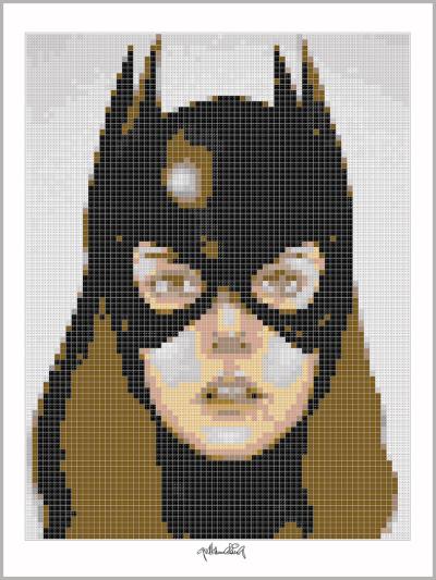 Batgirl, Art of Bricks, Brickart, Kunst mit Lego Steinen
