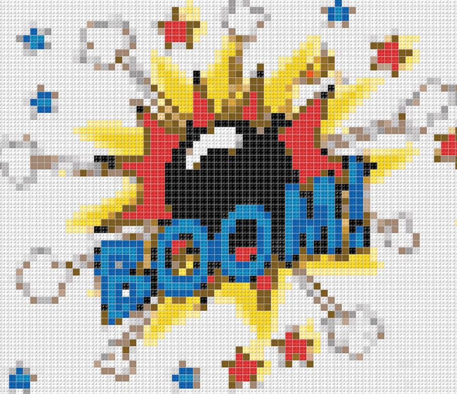 Comic, Pop Art, Comic Art, Art of Bricks, Brickart, Kunst mit Lego Steinen, Legokunstwerk, Legokunst, Lego Art, Legoart, Legokunst, Bilder aus Legosteinen