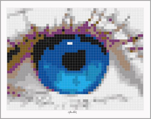 Bild Augenarztpraxis, Augenarzt, Wartezimmer, Pop Art, Comic Art, Art of Bricks, Brickart, Kunst mit Lego Steinen, Legokunstwerk, Legokunst, Lego Art, Legoart, Legokunst, Bilder aus Legosteinen  Augenarzt, Augenarztbild,