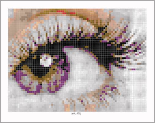 Auge, Pupille, Kunst und Auge, Pupille, Pop Art, Comic Art, Art of Bricks, Brickart, Kunst mit Lego Steinen, Legokunstwerk, Legokunst, Lego Art, Legoart, Legokunst, Bilder aus Legosteinen