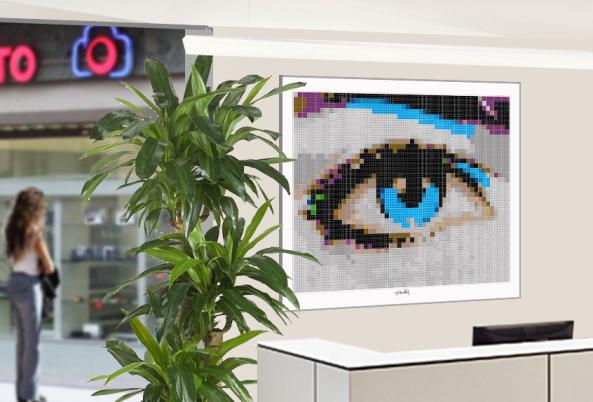 Kunst für den Augenarzt, Kunst und Auge, Pop Art, Comic Art, Art of Bricks, Brickart, Kunst mit Lego Steinen, Legokunstwerk, Legokunst, Lego Art, Legoart, Legokunst, Bilder aus Legosteinen