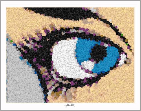 Augenarzt, Praxis Augenarzt, Augenarztbild, Pop Art, Comic Art, Art of Bricks, Brickart, Kunst mit Lego Steinen, Legokunstwerk, Legokunst, Lego Art, Legoart, Legokunst, Bilder aus Legosteinen