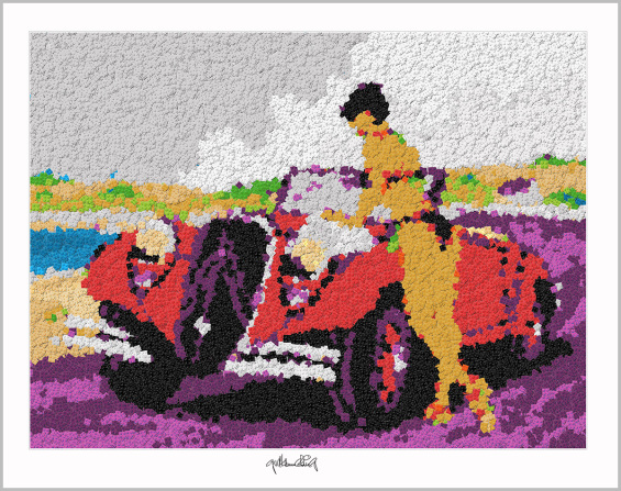 Pop Art Girl, Pop Art, Comic Art, Art of Bricks, Brickart, Kunst mit Lego Steinen, Legokunst, Lego Art, Legoart,