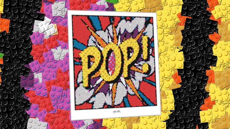 Lego Kunst, Art, Art with LEGO Bricks, Kunstbilder aus Legosteinen, Lego Wandbild, Lego Poster, Kunst mit Legosteinen,