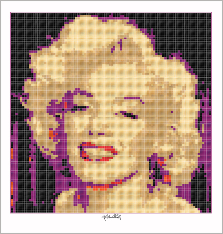 Kunst mit Lego Steinen, Art of Brick, Art of Brick, Marilyn Wandbild, Lego Art, Legoart, Legokunst, Kunst mit Legosteinen