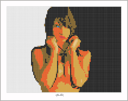 Pop Art Girl, Pop Art, Girl, Comic Art, Art of Bricks, Brickart, Kunst mit Lego Steinen, Legokunst, Lego Art, Legoart, Legokunstwerk, Legokunst