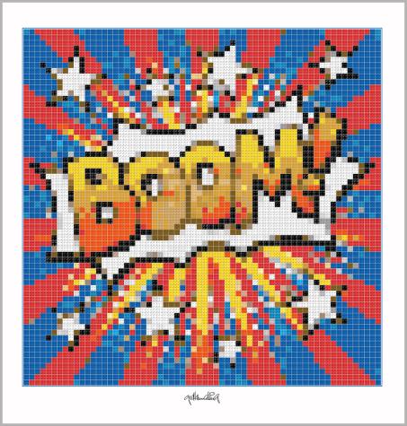 Pop Art, Comic Art, Pop Art, Comic Art, Art of Bricks, Brickart, Kunst mit Lego Steinen, Legokunstwerk, Legokunst, Lego Art, Legoart, Legokunst, Bilder aus Legosteinen