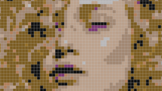 Portrait, Lego Steine Portrait, Lego Art, Legoart, Legokunst, Kunst mit Legosteinen