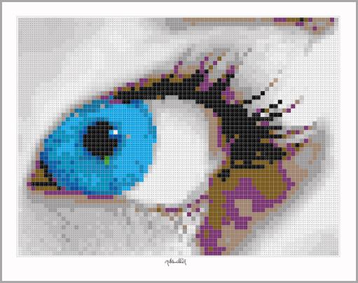 Blaue Augen, Augen und Kunst, Augenkunst, Pop Art, Comic Art, Art of Bricks, Brickart, Kunst mit Lego Steinen, Legokunstwerk, Legokunst, Lego Art, Legoart, Legokunst, Bilder aus Legosteinen