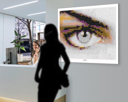Kunst und Auge, Augenkunst, Kunst Augenarzt,  Pop Art, Comic Art, Art of Bricks, Brickart, Kunst mit Lego Steinen, Legokunstwerk, Legokunst, Lego Art, Legoart, Legokunst, Bilder aus Legosteinen