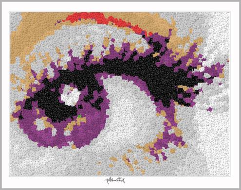 Praxis Augenarzt, Augenarztbild, Blaue Augen, Pop Art, Comic Art, Art of Bricks, Brickart, Kunst mit Lego Steinen, Legokunstwerk, Legokunst, Lego Art, Legoart, Legokunst, Bilder aus Legosteinen