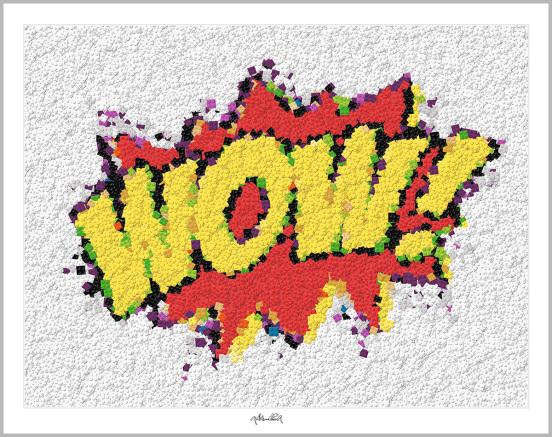 Lego Pop Art, zeitgenössische Kunst, Kunst mit Legosteinen, Art of Brick, Lego Art, Legoart, Legokunst, Bilder aus Legosteinen